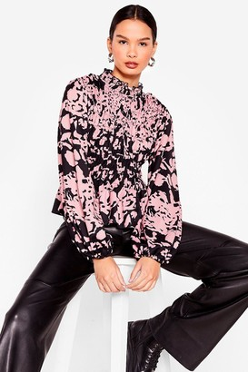 Nasty Gal Womens Ever Fallen in Love Floral Shirred Top - Pink