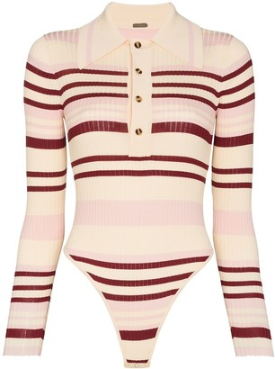 Dodo Bar Or Penny ribbed-knit bodysuit