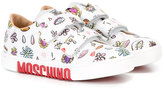 Moschino Kids - printed straped sneakers - kids - Leather/rubber - 27