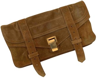 Proenza Schouler PS1 Brown Suede Clutch bags