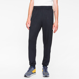 Paul Smith Men's Navy Cotton-Blend Sweatpants With Black Side Panels