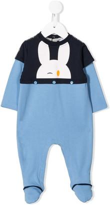 Emporio Armani Kids Bunny Print Pajamas