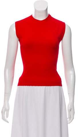 Alaia Sleeveless Crew Neck Top