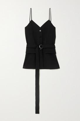 Chloé Belted Grain De Poudre Wool Camisole - Black