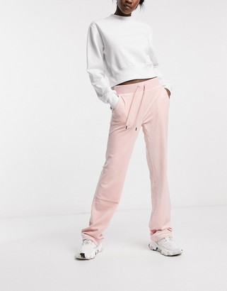 Juicy Couture co-ord super soft velour track pants in pink