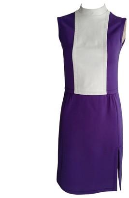 Jean Patou Purple Wool Dress for Women Vintage