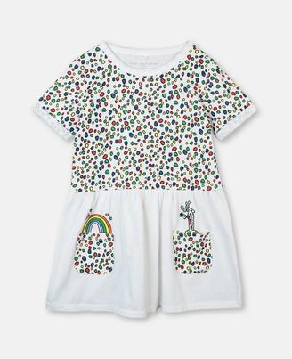 Stella McCartney giraffe dots jersey dress