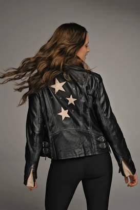 Mauritius Seera Star & Studded Leather Jacket