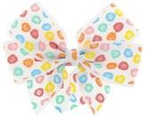 Cat & Jack Girls' Dot Flower Print Bow Hair Clip - Cat & Jack Pink