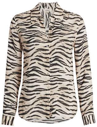 L'Agence Holly Zebra Print Blouse
