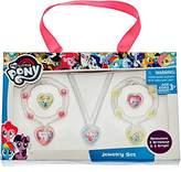 My Little Pony 5 Piece Acrylic Pinkie Pendant Celestia and Rainbow Bracelet Jewelry Set