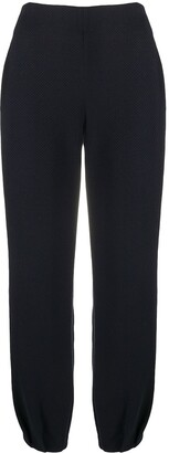 Emporio Armani Zigzag Patterned Knitted Trousers