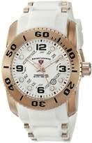 Swiss Legend Men's 10069-RG-02S-WHT Commander Pro Analog Display Swiss Quartz Watch