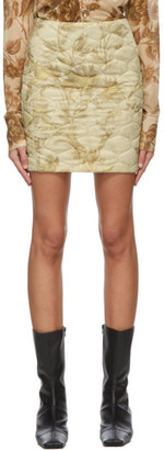 Kwaidan Editions Beige Quilted Miniskirt