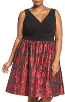 Adrianna Papell Fit & Flare Party Dress (Plus Size)