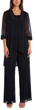 R & M Richards Plus Size 3-Pc. Embellished Jacket, Top & Pants Set