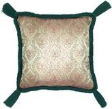 Stranger Than Them Elton Metallic Gold Fleur de Lis Jacquard Square Tassel Cushion