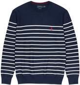 Polo Ralph Lauren Navy Striped Cotton Jumper