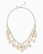 Charming charlie Tonal Pearl Layered Necklace