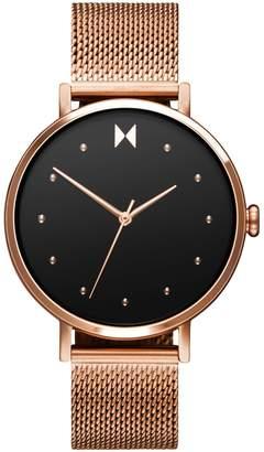 MVMT Dot Rose Goldtone Stainless Steel Mesh Bracelet Watch