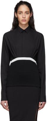 Haider Ackermann Black Elasticized Shirt