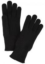 Moncler Black Ribbed Wool Gloves