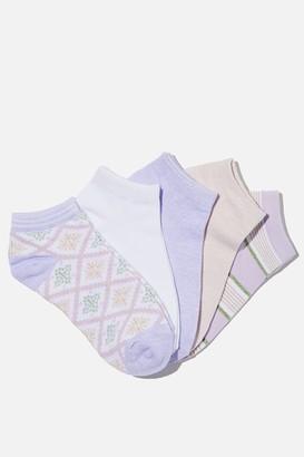 Rubi 5Pk Ankle Sock