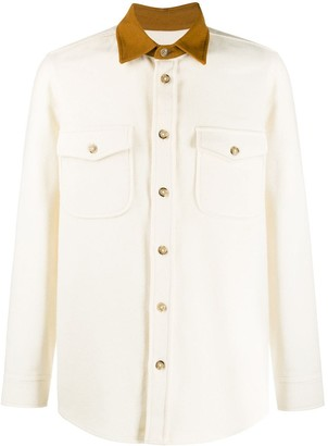 Woolrich Contrast Collar Shirt