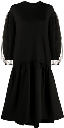 Simone Rocha Puffed Sleeves Flared Dress