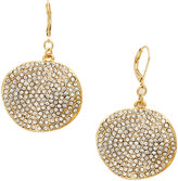 INC International Concepts Gold-Tone Pave Glass Disc Earrings