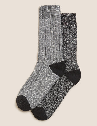 Marks and Spencer 2 Pack Cotton Boot Socks