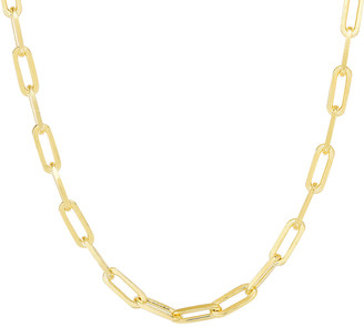 Sphera Milano 14K Over Silver Paperclip Chain Necklace