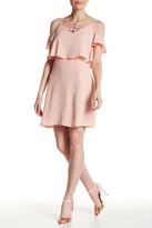 Jessica Simpson Cold Shoulder Crisscross Dress
