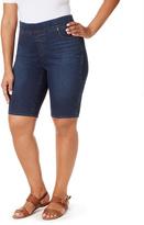 Gloria Vanderbilt Medium Blue Denim Shorts - Plus
