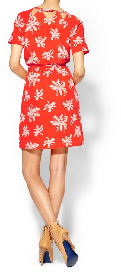 Viva Vena Cut Out Front Tie Dress
