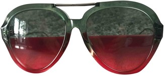Fendi Green Plastic Sunglasses