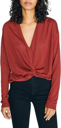 Sanctuary Knot Interested Plunge Neck Top