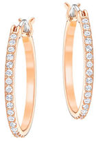 Swarovski 18K Rose Goldplated Hoop Earrings