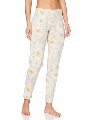 Skiny Women's Damen Pyjama Hose Lang Earth Sleep Bottoms