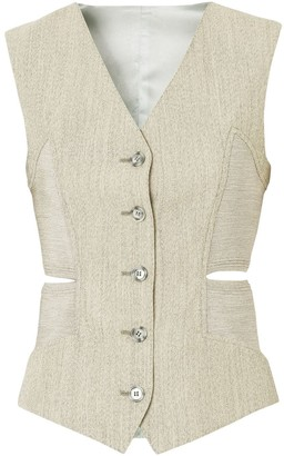 Burberry Cut-Out Detail Waistcoat
