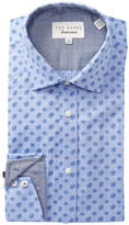 Ted Baker Mini Paisley Print Trim Fit Dress Shirt