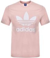 Adidas Originals Trefoil T Shirt Pink