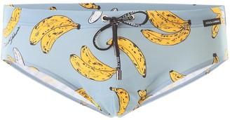 Dolce & Gabbana Banana Print Swim Briefs