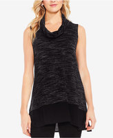 Vince Camuto Layered-Look Space-Dyed Tunic