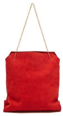 The Row Lunch Bag Suede Clutch - Womens - Red