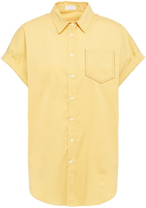 Brunello Cucinelli Stretch-cotton Poplin Shirt