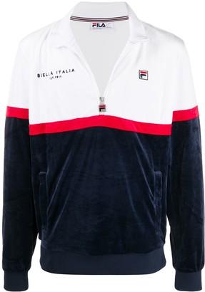 Fila Kane contrast panel zip-up sweatshirt