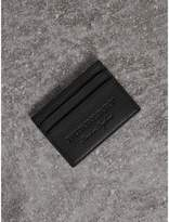 Burberry Textured Leather Card Case, Black