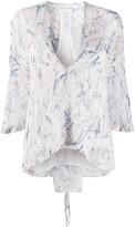 IRO Abstract Print Silk Blouse