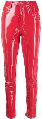Chiara Ferragni Flirting vinyl trousers